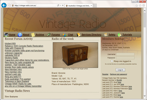 The fourth Vintage Radio site