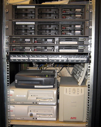 The owner's rack of servers - located in his laundry of all places!