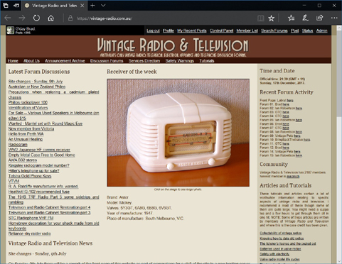 The fifth Vintage Radio site