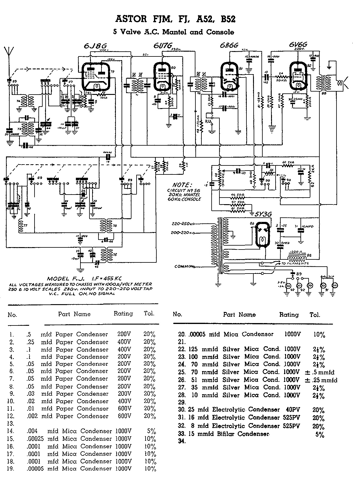 Astor FJM/FJ circuit diagram